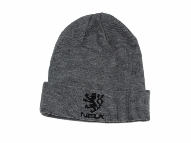 NELA grey beanie - free with orders over $100, discount code: FREEGEAR